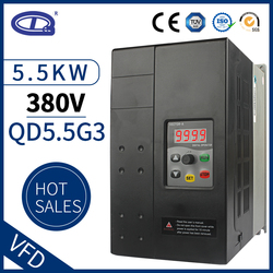 QD350 5.5kw 3 phase 380v input and output Variable Frequency Drive Converter for Motor Speed Control Frequency Inverter