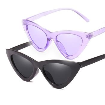 1pc Vintage Cateye gogle okulary przeciwsłoneczne damskie Sexy Retro małe okulary przeciwsłoneczne kocie oczy marka projektant kolorowe okulary dla kobiet tanie i dobre opinie CN (pochodzenie) Ochrona przed promieniowaniem UV