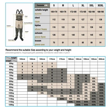 Fishing Waders Hunting Suit 3 Layer Waterproof Wading Pants with Neoprene Boots Waist or Chest Fly Fishing Clothes Overalls 4