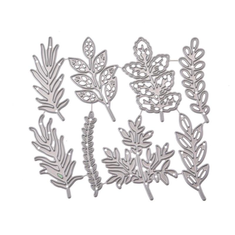 Leaf Set Frame Cut Die Metal Cutting Dies Mold Leaves Scrapbook Embossing Paper Craft Knife Mould Blade Punch Stencils Dies