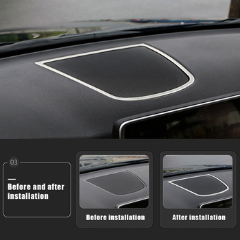 Console Audio Loudspeaker Frame Decorative Stainless Steel Car Accessories Cover Trim Strip For BMW NEW X5 X6 2014-2018 image