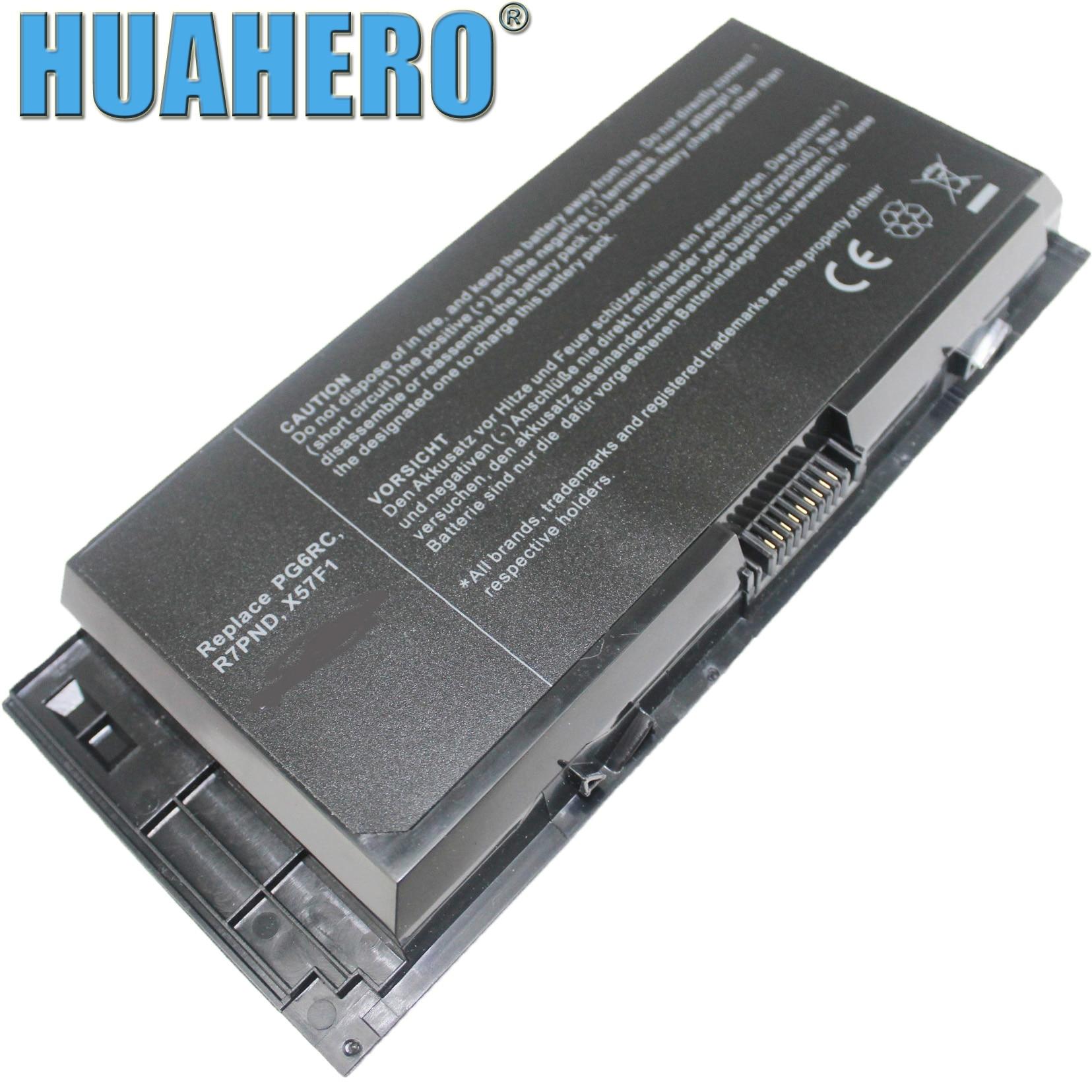 Батарея HUAHERO для ноутбука DELL Precision M6600 M6700 M6800 M4800 M4600 M4700 FV993 FJJ4W PG6RC R7PND OTN1K5 97KRM 9GP08 KJ321