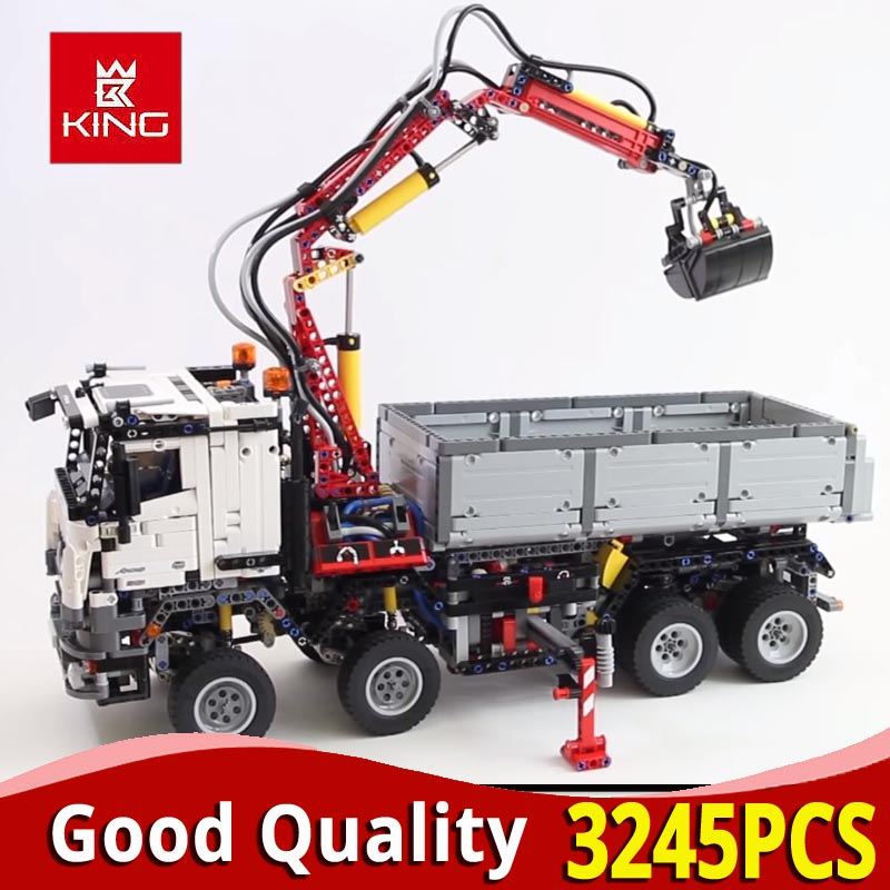 DHL Technic Series 20005 Motor Power truck model building blocks compatible with <font><b>legoinglys</b></font> <font><b>42043</b></font> car boy kids toys educational image