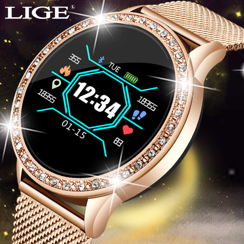 LIGE Fashion smart watch women men Sport waterproof clock Heart rate sleep monitor For iPhone Call reminder Bluetooth smartwatch