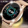 LIGE модные часы Smart Watch женские мужские спортивные водонепроницаемые часы, часы сна монитор сердечного ритма для iPhone напоминание Смарт-часы с...