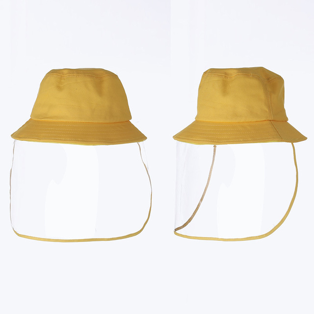 Protective Face Shield Cover Hat Anti Dust Cotton Fisherman Hat for Kids Reusable Anti Droplet Hat Mask Protective Cap 3