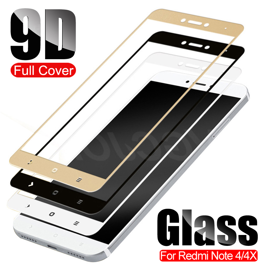 9D Full Cover Tempered Protective Glass For Xiaomi Redmi Note 4 4X Redmi Note4 Pro Note 4X Global Version Screen Protector Film