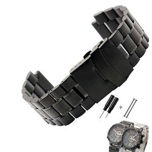 Image 5 - Rvs horlogeband voor heren TIMEX T2N720 T2N721 TW2R55500 T2N721 horloge band 24*16mm lug end zilver zwarte armband