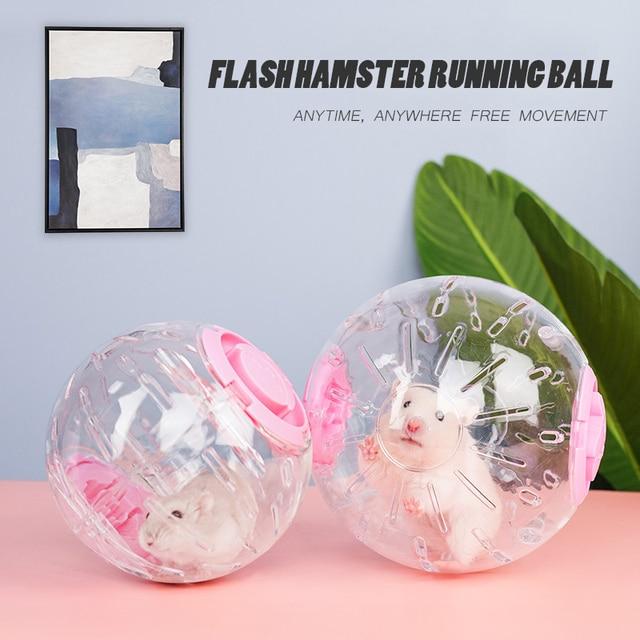 Upgrade Pet Hamster Guinea Pig Crystal Flashing Hot Wheel Sports Running Ball  4