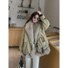 Fur Coat Winter Parka Short Fxfurs Fashion Women's New Removable Fox-Fur-Liner Multi-Wear