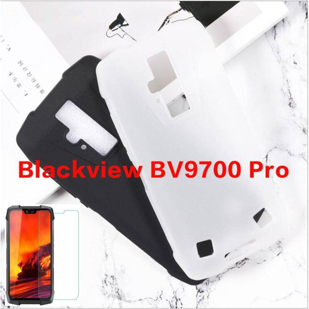 0.3MM 2.5D Tempered Glass Screen Protector For Blackview BV9700 Pro Matte Black TPU Back Cover Case For Blackview BV9700 Pro