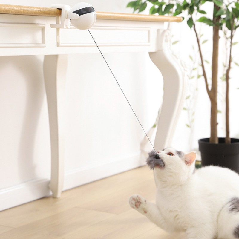 Electric Lifting Cat Toy Interactive Cat Teaser Toy Automatic Teaser  Ball Electric Flutter Rotating Interactive Puzzle Pet Toy