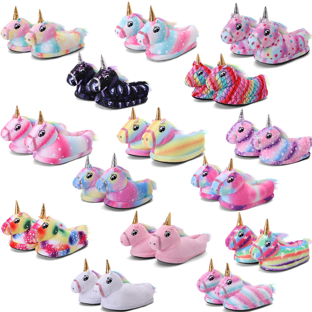 Unicorn Slippers Pajamas Onesie Kids Shoes Kigurumi Girls