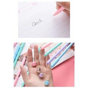 Image 3 - 32 Stks/partij Crystal Ball Pen Mini Wish Star Hanger Zwarte Kleur Pen Schrijven Leuke Briefpapier Gift Kantoor Schoolbenodigdheden A6791