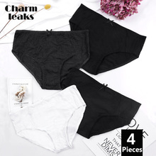 Charmleaks Women Panties Tanga Thong Hipster Underwear 4 Packs Cotton Soft Stretch Bow tie Cozy Crotch Cueca Calcinha
