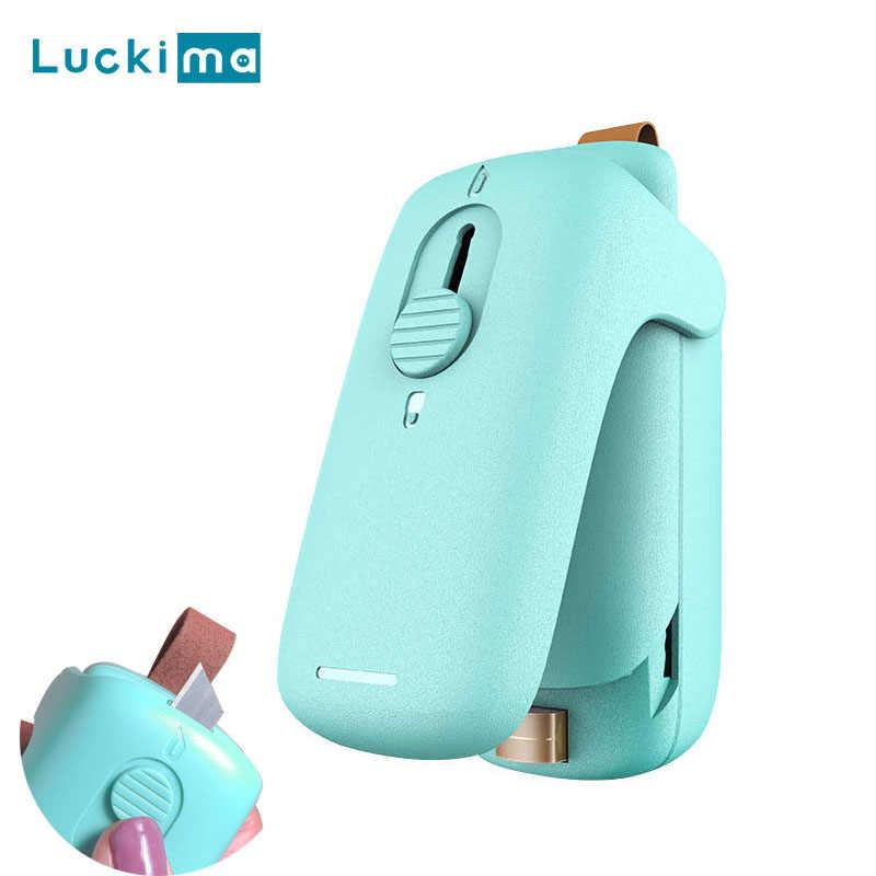 2 ב 1 מיני שקופיות חום אוטם נייד Capper מזון Saver ביתי כף יד איטום מכונת אריזה שונים פלסטיק שקיות