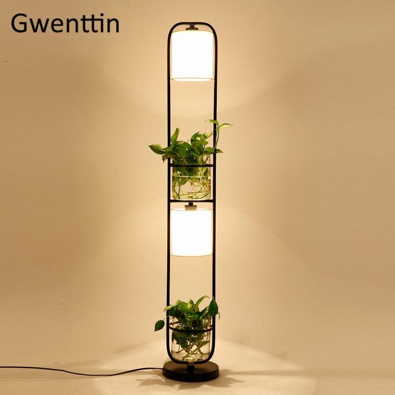 Planta moderna Luminária de Chão Levou Luminárias de Vidro DIY Pé Nórdico Fique Luz para Sala Quarto Home Decor Luminaire
