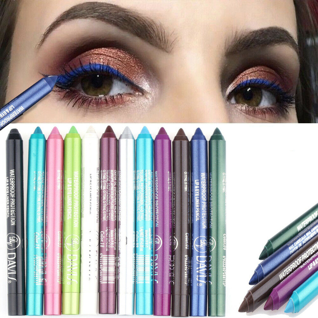 Women Long-lasting Eye Liner Pencil Makeup Pigment Waterproof White Black Blue Color Eyeliner Pen Eye Cosmetics Beauty Tools 5
