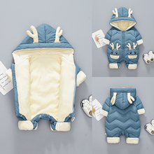 Lovely Animal Baby Romper Outwear Jackets Down Cotton Padded Velvet Thick Warm I
