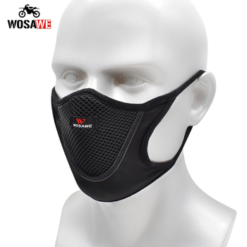 WOSAWE Motorcycle Face Mask Anti-pollution Dust Reusable Washable Breathable Unisex Moto Face Face Shield Outdoor Sports Mask