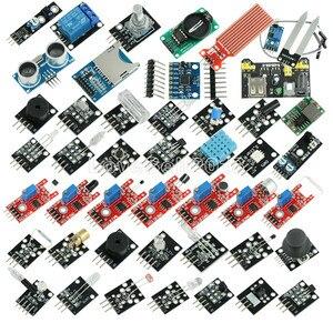 Image 1 - 45 في 1 أجهزة الاستشعار وحدات كاتب عدة لاردوينو UNO R3 ميجا 2560 نانو أفضل من 37in1 مجموعة أجهزة استشعار 37 في 1 مجموعة أجهزة استشعار لتقوم بها بنفسك عدة