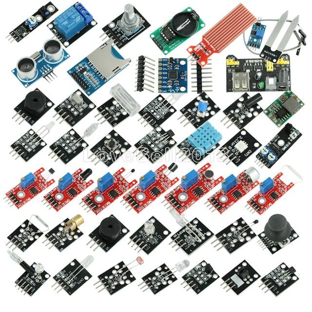 45 w 1 czujniki moduły Starter zestaw do Arduino UNO R3 Mega 2560 Nano lepiej niż 37in1 zestaw czujników 37 w 1 zestaw czujników zestaw do samodzielnego montażu