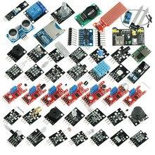 Kit módulo iniciante para arduino uno r3, 45 em 1 sensores mega 2560 nano melhor que 37 em 1 sensor kit diy de sensor em 1