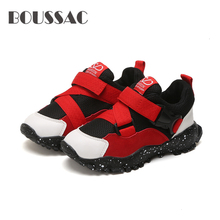 BOUSSAC Children Shoes For Boys Sneakers Kids Causal Girls Sport Buckle Strap chaussure enfant 2019
