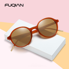 FUQIAN Fashion Round Polarized Sunglasses Women Popular Small Plastic Oval Female Sun Glasses Light Weight Driving Eyewear UV400