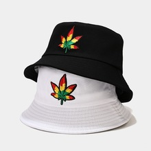 Hat Bucket-Hats Summer Hip-Hop Spring Male Man Men Casquette Fisherman-Caps Leaf-Pattern