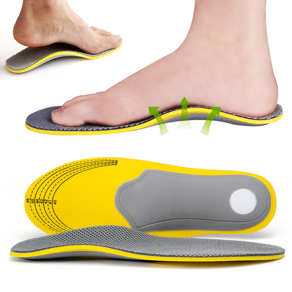 High Arch Support Flat Foot Insoles Orthotics Elbow Varus Foot Orthopaedic Foot Cushion Pads Size(35-46)
