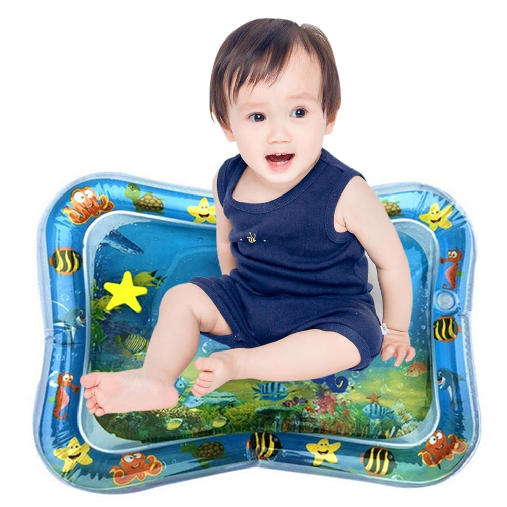 Inflatable Water Mat Infant Toddler Tummy Time Play Pad Growth Stimulation Toy Baby Tummy Time Mat Gyms Mat Summer