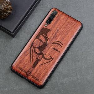 Image 4 - For Xiaomi Mi A3 Case Boogic Original Wood funda Mi A3 Lite Rosewood Cover Phone Case For Xiaomi Mi CC9 CC 9e