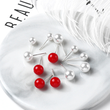 the New South Korean temperament pearl pearl ear nail, all around, simple ear jewelry net, red cold wind and small earrings.