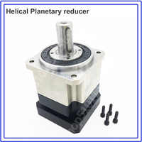 Planetary Reducer 10:1 Helical Tooth NEMA24 3Arcmin Backlash Gearbox Reducer for 60mm 200W 400W Servo Motor Robot High Precision