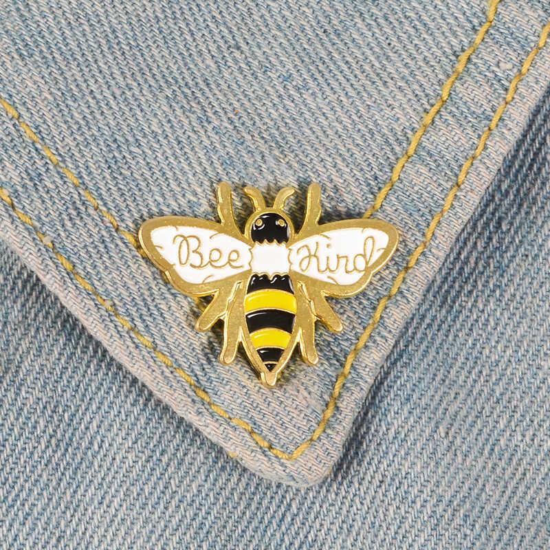 Ser abeja pin de esmalte duro de trabajo recolectar broches amabilidad de pines de solapa camisa con escudos mochila regalo de la joyería de pines