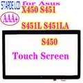14 0 ''для Asus X450 S451 S451L S451LA S450 сенсорный экран дигитайзер панель Стекло с рамкой