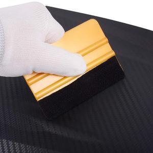 Image 5 - EHDIS 20/50/100pcs 펠트 직물 천을 10cm 스퀴지 탄소 섬유 비닐 자동차 포장 없음 스크래치 스크레이퍼 창 색조 포장 도구