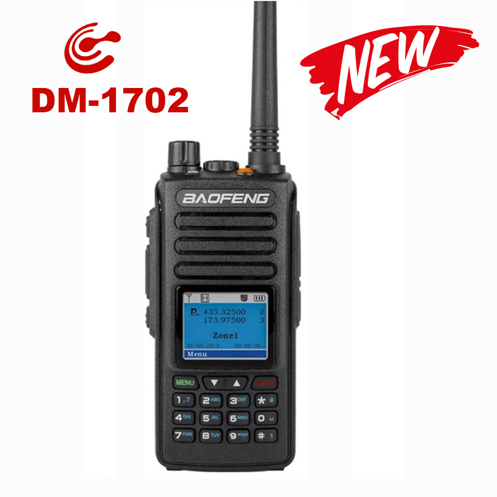 Baofeng DM 1702 DMR Digital Radio Analog Portable Walkie Talkie (GPS )Tier1 & Tier2 Repeater Dual Band VHF/UHF Ham Two Way Radio