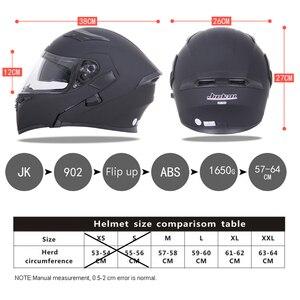 Image 5 - DOT ECE JIEKAI casques de moto, Flip up, pour course de sécurité, pour Motocross, Quad Dirt, 902, nouveau, casque de vélo