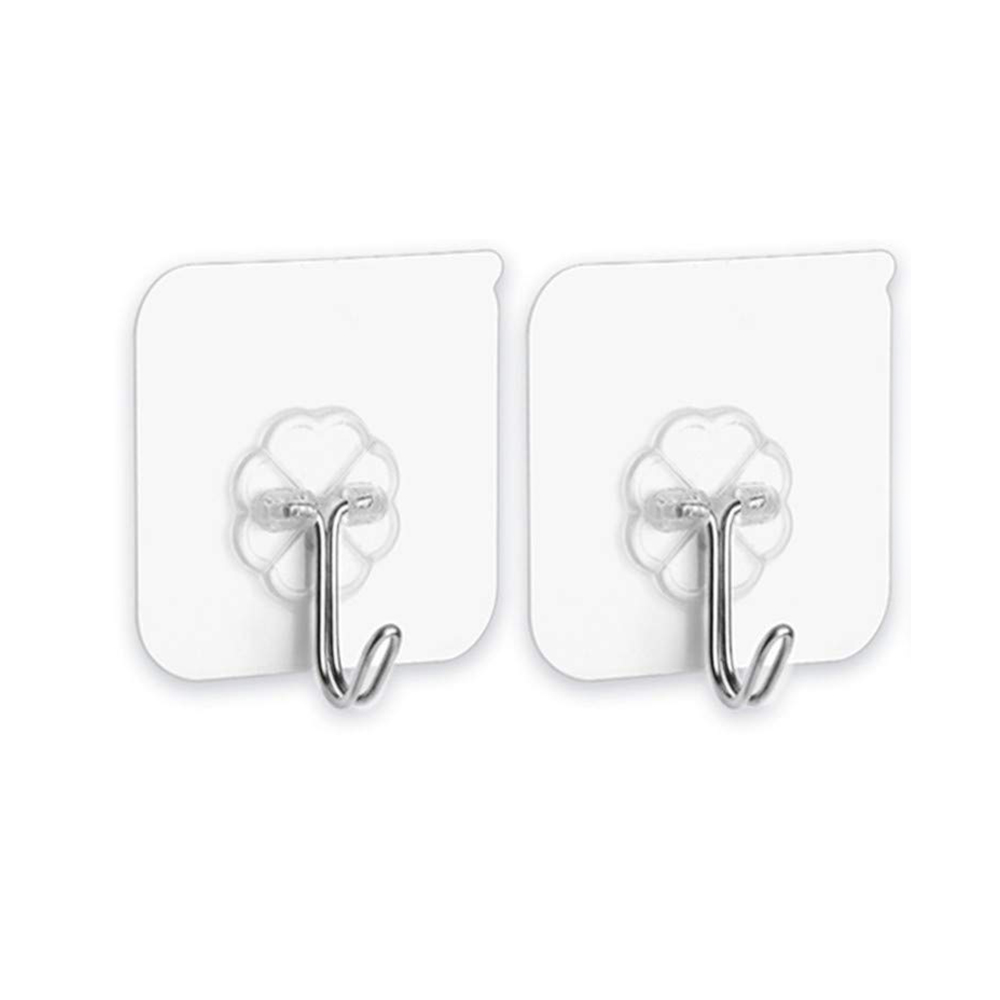 12 20 Packs Adhesive Hooks Kitchen Wall Hooks- Nail Free Sticky Hangers With Stainless Hooks Towel Bath Ceiling Hooks