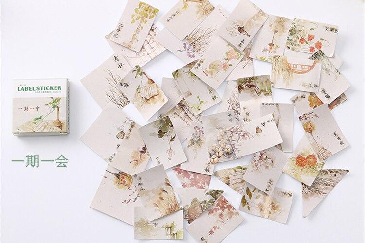 40 шт./упак. милые цветы шаблон Decoracion дневник рождественские Стикеры s Скрапбукинг стикер для канцелярских товаров принадлежности для студентов - Цвет: 23