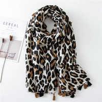 2019 mode femmes imprimé léopard écharpe 180*90cm léopard étole mince coton chaud grands châles et enveloppes foulard femme cachecol