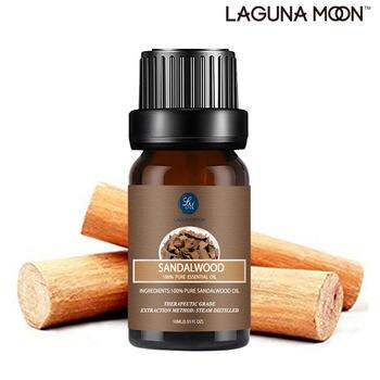 Lagunamoon Sandalwood Essential Oils 10ML Air Fresh Humidifier Diffuser Massage Lemongrass Lemon Patchouli Rose Jasmine Myrrh 1