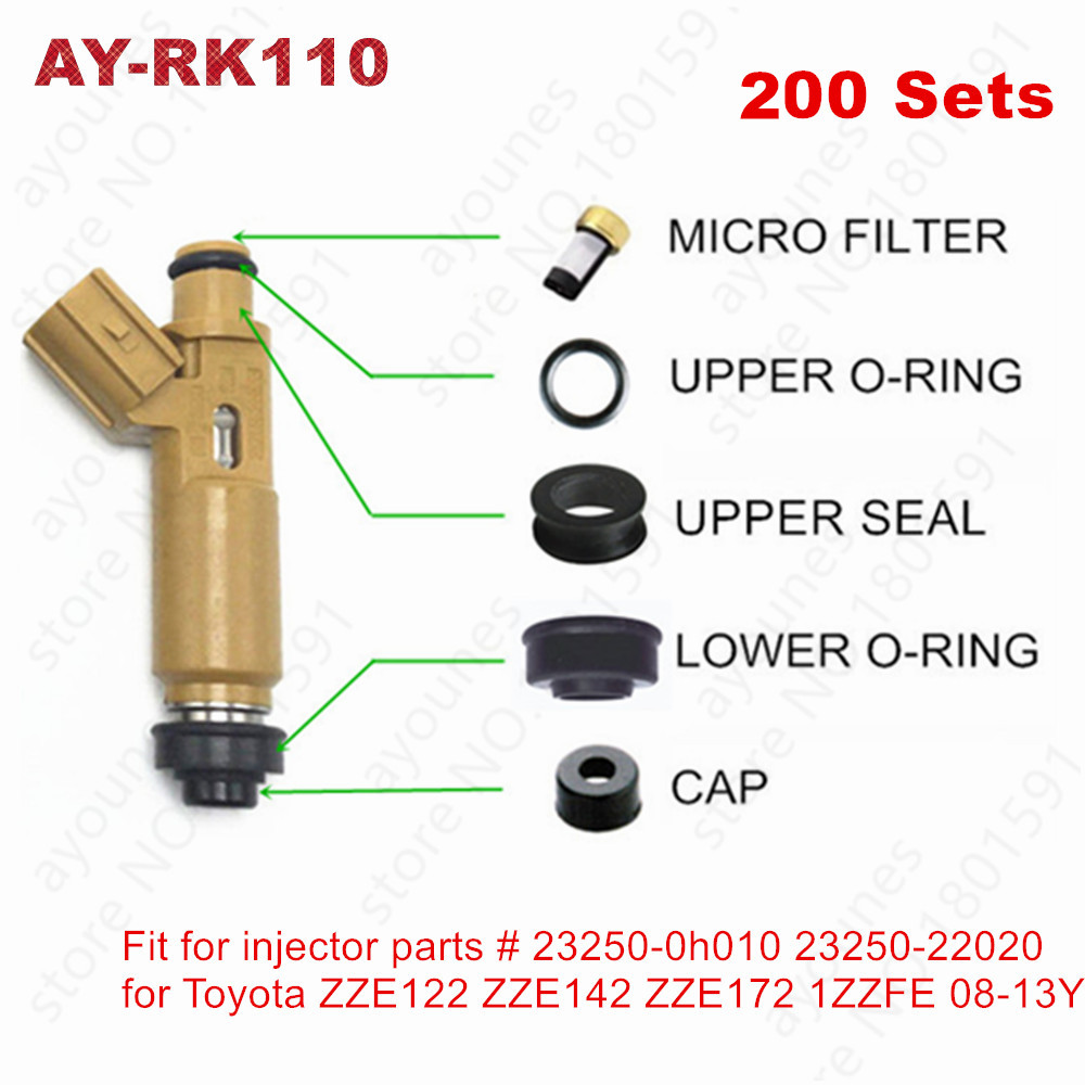 O-RINGS UPPER SPACER AND MORE REBUILT KIT FOR HONDA CRV INJECTOR NEW FILTERS