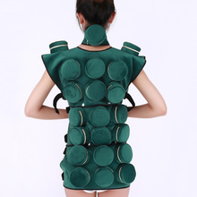 Green Velvet Smokeless Moxibustion Cover Copper Box Moxa Stick Burn Anti-Smoke Bag Back Body Acupuncture Therapy Massage Tool