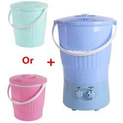 220V Mini Elektrische Kleidung Waschmaschine Tragbare Multifunktionale Socken Kleidung Waschmaschine Halbautomatische Mit 2 Eimer