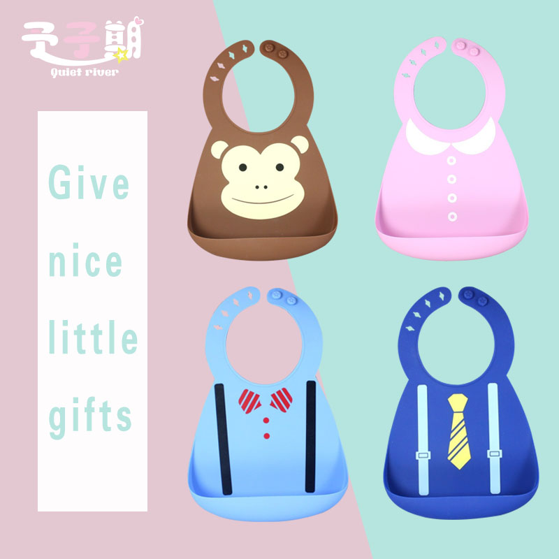 Waterproof Baby Silicone Bibs Burp Cloths Toddler Kids Adjustable Feeding Apron Saliva For Eating Rice Painting Bandana Mask