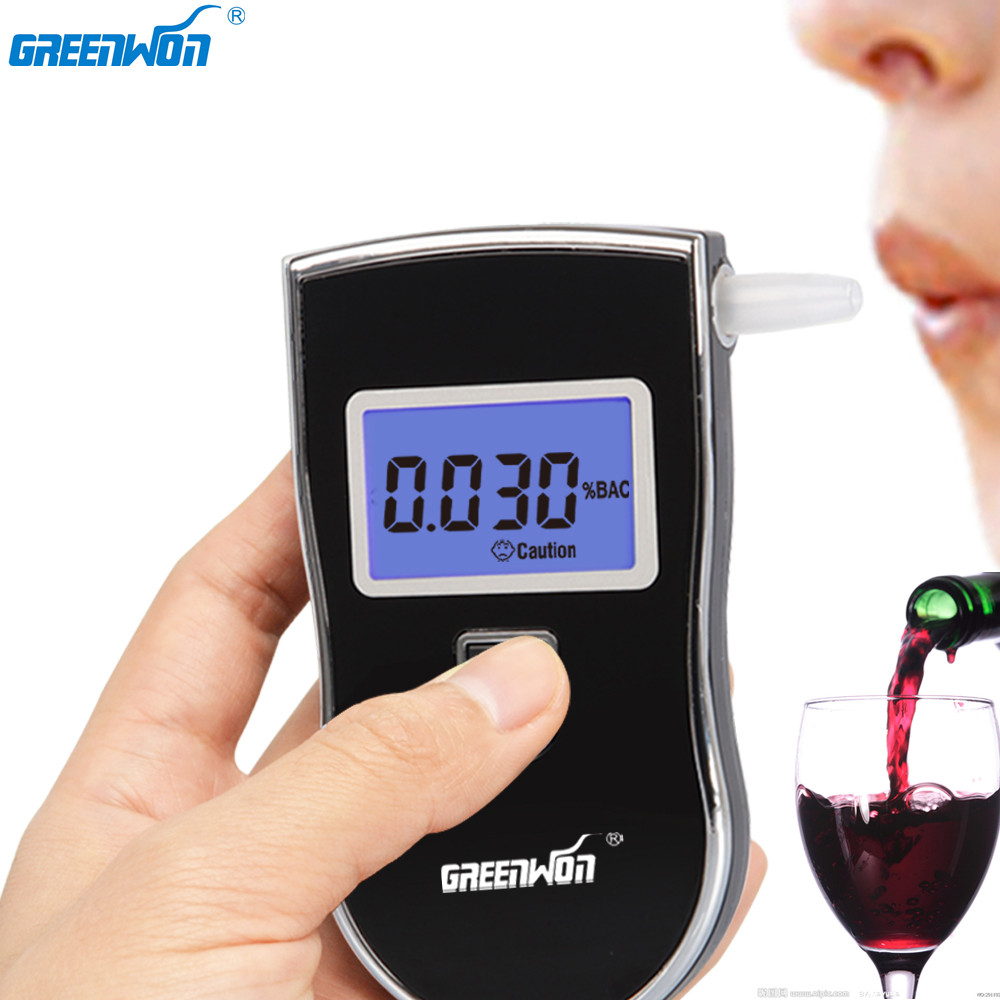 GREENWON Alcohol Tester Breath breathalyzer Professional alcohol Tester AT-818 alcoholmetro
