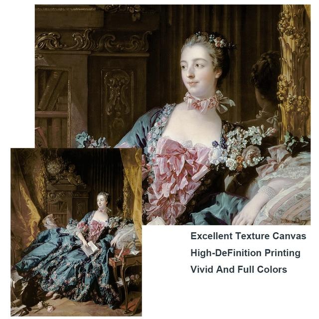 Portrait of Madame de Pompadour by Francois Boucher Classical Painting 4